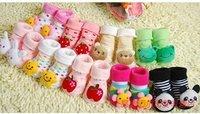 новорожденных этаж Носки детские моды хлопчатобумажные носки милые пинетки младенческой тапочка носки 12 пары/лот