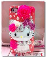 14 цветов bling Привет Китти maire Китти чехол для iphone 5 4 4s