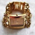 Наручные часы New Fashion Gold Skeleton Automatic Mechanical Watch Stainless Steel Mens Watch Wrist Watch MCE 61