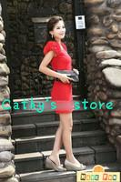 Женское платье Hot sale cathy plus size european style high quality women's fashion flower elegant slim waist tank one-piece dress 5 colors