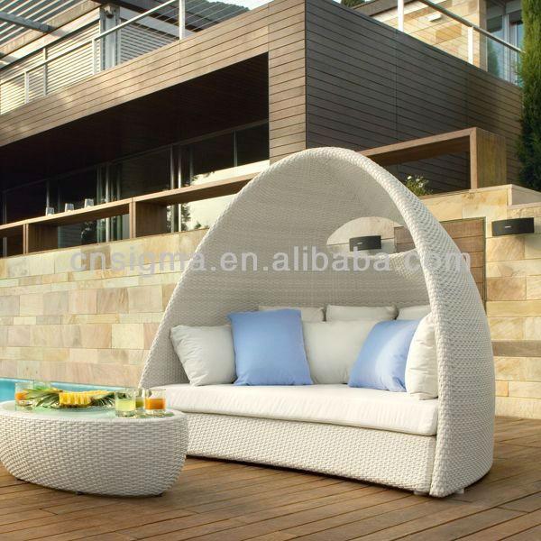mobiliario de jardim em rattan sintetico:Sofá de vime PE Rattan sintético mobiliário de Design sala de sol