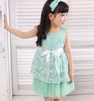 Платье для девочек Baby girls dress kids children vest veil elegant girl dresses 0507 sylvia 1238238126