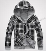 Мужская толстовка 2013 Sexy Slim Fit Top Designed Men's Hoodies Jackets Coats outwear Double Side Wear 4 Color M, L, XL, XXL 9312