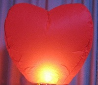 Воздушный шар 25pcs/lot heart Sky Lanterns, Wishing Lamp SKY CHINESE LANTERNS BIRTHDAY WEDDING PARTY