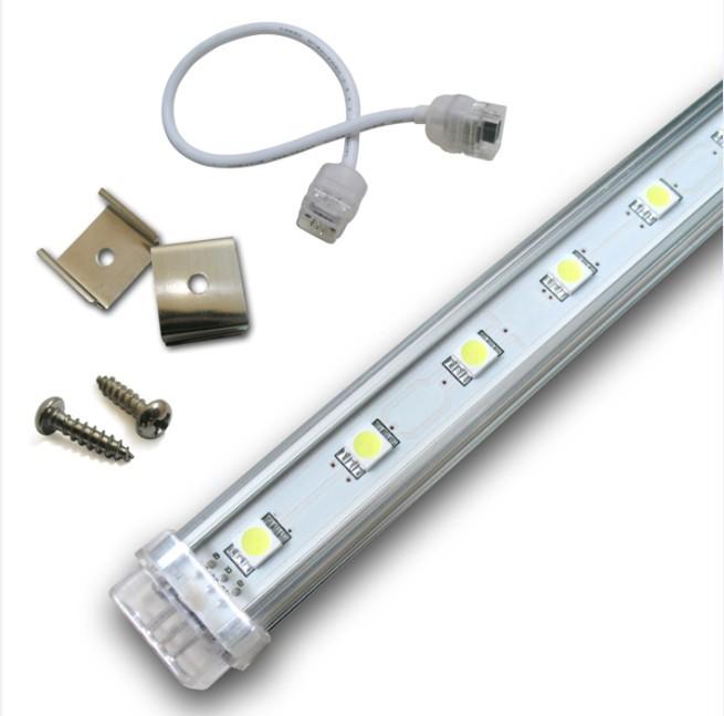 1m smd5050 dc24v kaltwei aluminium led lichtleiste f r schmuck vitrinenbeleuchtung unterschrank. Black Bedroom Furniture Sets. Home Design Ideas