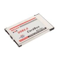 Компьютерные аксессуары 2 Port USB 2.0 PCMCIA CardBus 480M Card Adapter For Laptop 100% Brand New