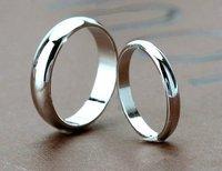 Кольцо Classic design Platinum Plated Smooth couple wedding rings jewelry 2012