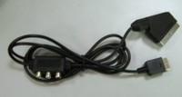 RGB scart аудио видео кабель av для sony ps2 playstation с av-адаптер