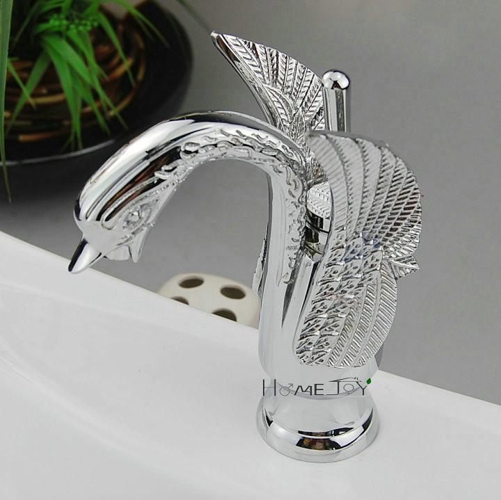 Antique Brass Finish Bathroom Sink Taps - Bamboo Shape Design - UKTAP