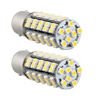 Free shipping.2Pcs/lot 1156 1210 BA15S 68 SMD 3528 LED Warm White Tail Turn Stop Parking Light Lamp