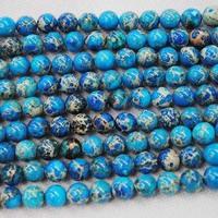 Blue Imperial Jasper Round Ball, Semi Precious Stone, Fashion Jewelry Accessories, Size: 10mm