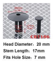Крепежная деталь в салон авто s 100pcs Car Door Sill Trim Push-Type Retainer Clips For BMW E38 E39 E46 E53 Series 3, 5, 7 CBT-166-100