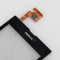 ЖК-дисплей для мобильных телефонов Brand New Black Front Touch Screen Digitizer Panel Replacement for Nokia Lumia 520, CPAM