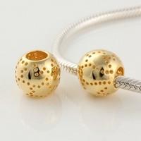 Бусины 925 Sterling Silver Gold Plated Beads LGYDJ094