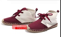 Мужские кроссовки 2013 autumn and winter influx of people male canvas shoes red and white mixed colors C6-2013