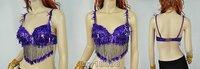 Sexy belly dance dancing costume bra top silver 34 B/C new