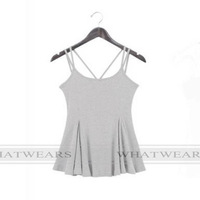 Женские топы и Футболки Women Summer vest 100% Cottom Sexy Camisoles tops Women sports Tanks [70-1171