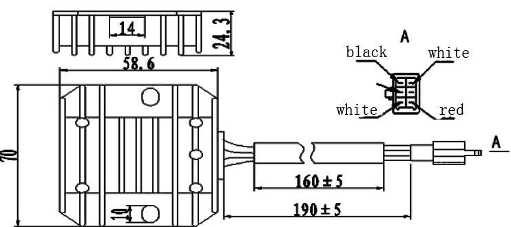 jym110 regulador de recambios de la motocicleta