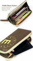 Молния холст мужчины женщины кошелек кошелек, мобильный телефон Бумажник мешочек, Кредит Банк id карты держатель случае, длинные дизайн, мода