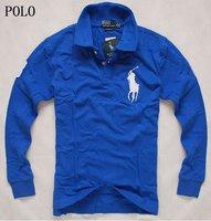 Мужская футболка 2013New long sleeve popular men's POLO Shirt, sweatshirt, men's leisure shirt, pique polo sport t-shirt, men's casual t-shirt