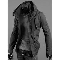 новые сексуальные Мужские установлены руку молнии верхней дизайн Толстовки stylishcasual куртки капюшоном Пальто Тренч 3color m-xxl