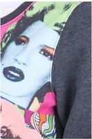 "Женские толстовки и Кофты Marilyn Monroe Head"" Dark-grey Pullover notu882"