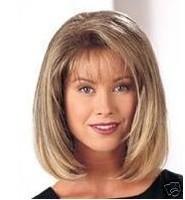 Парик из искусственных волос Middle-long brown stylish ladies sexy Hair wigs