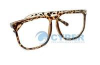 Женские солнцезащитные очки Leopard Fashion Cool Clear Lens Nerd Eyewear Frame Glasses For Fancy Dress