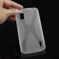 Чехол для для мобильных телефонов Soft X-Line Wave TPU Gel Cover Case Skin for LG Nexus 4 E960