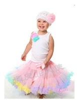 Baby Kids Girls Dancewear Cute Chiffon Tutu Pettiskirt Princess Skirt 3-4Y