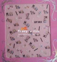 Latest 48 different Korea styles available Nail Art sticker Beauty Manicure Salon 3D nail sticker /100 sheets/lot Whole sale