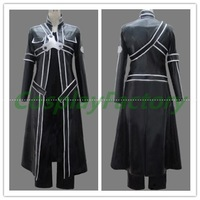 Free Shipping Custom Made Sword Art Online Cosplay Kirito Leather Costume,2kg/pc