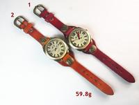 Наручные часы cow leather watch~ munber handmade vintage watch for men and women