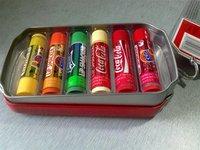We Like It  Santa Clause Coca Cola Lip Smacker Lip Gloss Lip Balm  6 pcs In A Tin Box  Mixed Flavours