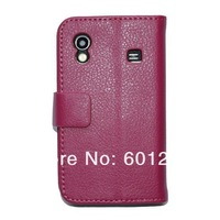 Lychee Pattern  Wallet Leather Case For Samsung Galaxy  Ace  S5830  With stand Cover free shipping