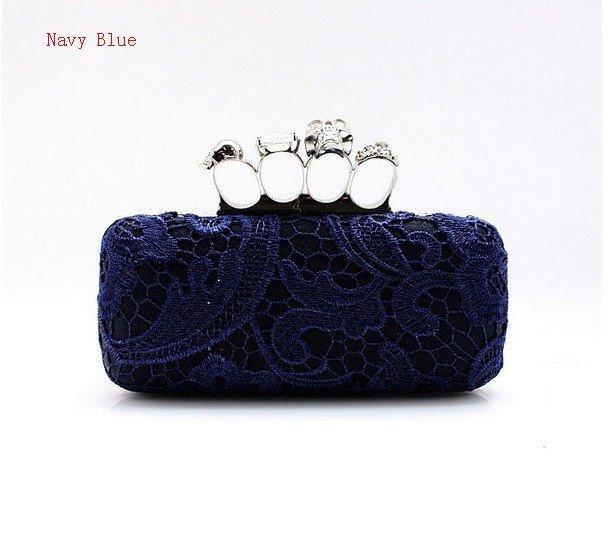 ... Women's Lace Satin Handbag Clutch Wedding Evening Bag Purse Makeup Bag