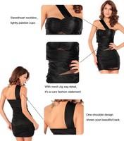 Женское платье Sexy Fashion Design Women's Forplay Black Mesh Zig-zag Mini Dress Sexy Clubwear Night Dress Drop Shipping LC2630