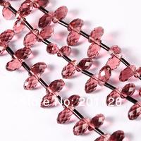 140pcs граненый стеклянный кристалл воды падение diy ювелирные бусины, делая 5 * 10 мм
