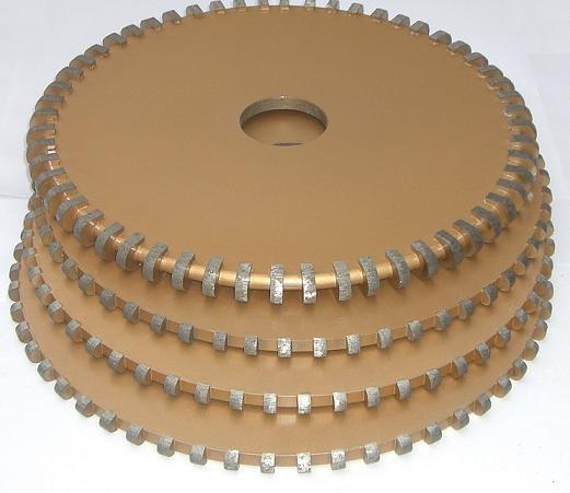 Diamant profiel wiel v20 segment diameter 250mm graniet marmer plaat profileermachine cnc - Buitenste stenen bar ...