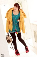 clothing winter wadded jacket bright color thermal thickening with a hood cotton-padded cotton jacket women