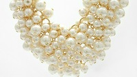 Колье-цепь New Products for 2013 Cloth Belt Starry Beads Gold Chains Necklace Brand Jewelry XL062 Women Imitation Pearls Jewelry Gift