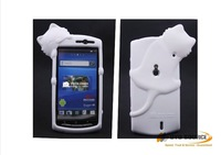 DER Diffie cat series top quality silicon case for Sony-Ericsson MT 15i,cute mobilephone case for mt 15i free shipping