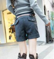 Новая мода женская одежда шерсти шорты брюки / высокое качество леди удары шерсти брюки xbk513