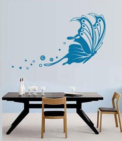 Интерьерные наклейки на стены, наклейки для декора стен, квигля.