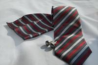 Мужской галстук New Fashion Blue Handmade polyester ties Men's silk neckTie with box Necktie +cufflinks+handkerchief005