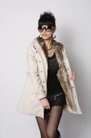Женская куртка Faux fur lining women's fur coats winter warm long coat jacket clothes price