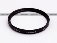 62mm Green.L. Close Up +3 Macro Glass Lens Filter for Canon Nikon  PCF10-3-62
