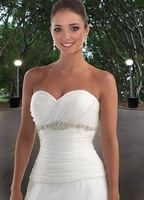 Свадебное платье The Newest style +Elegant Embroidered+Pure hand made Bridal gown