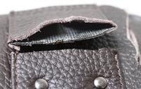 mens leather waist bag/cellphone bag more detail