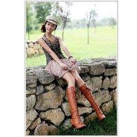 Женские ботинки high boot college women lace-up PU shoes US 5-7.5